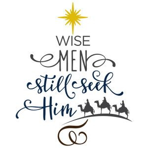 Silhouette Design Store - View Design #159937: wise men still seek him- tree