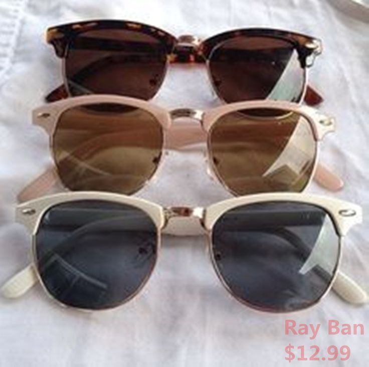 cheap sunglasses that look like ray bans  ray ban clubmaster. i found a pair of these at a thrift store for fifteen bucks..they smell funny, are crooked and i look like the bad guy from \who framed