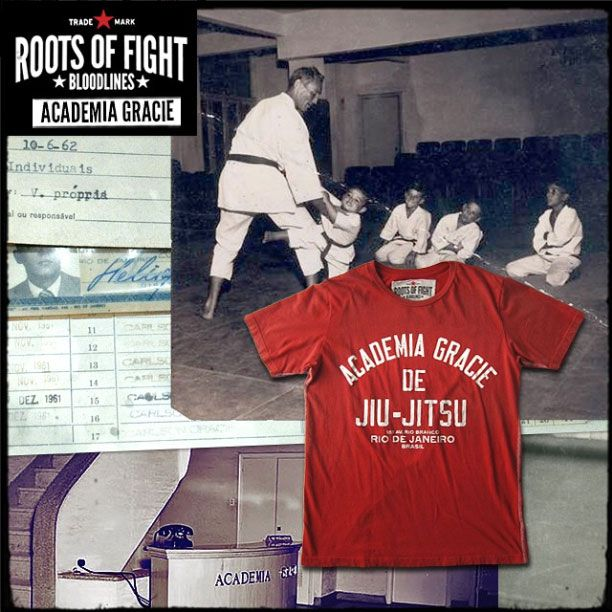 Roots Of Fight- Academia Gracie Brasil Tee