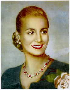 Ava Peron - First Lady of Argentina from 1946 to 1952, when she died at the age 33. Evita's story can teach us all that it is possible to defy fate. She was born into the lowest rung of rural life and climbed the ladder to become the most powerful woman in the country. She did this at a time when the place of the woman was in the home, not behind a desk.