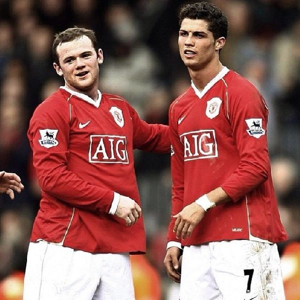Wayne Rooney and Cristiano Ronaldo Manchester United