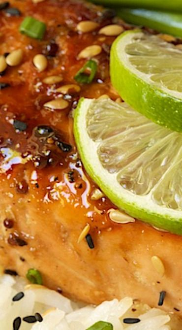 Honey Bourbon Glazed Salmon