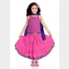 Rajasthani style ghagra choli set for girls
