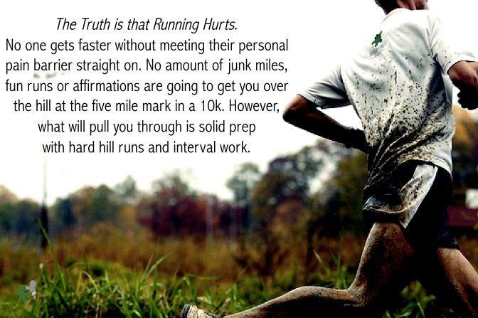 RunnerGirl: Truths Hurts, Start Running, Half Marathons, Marathons Training, Hard Work, Fit Motivation, Hill Workout, True Stories, Pictures Quotes
