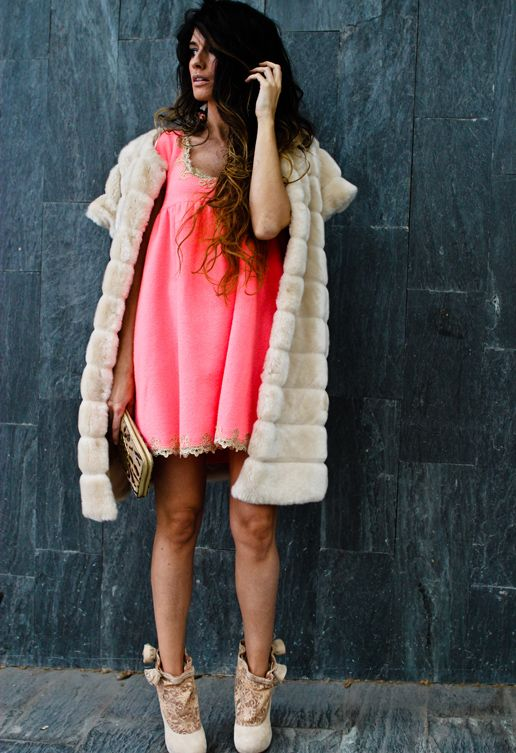 Manoush dress, Zara coat, topshop shoes, nadkamadewithlove earrings. 11/5/12