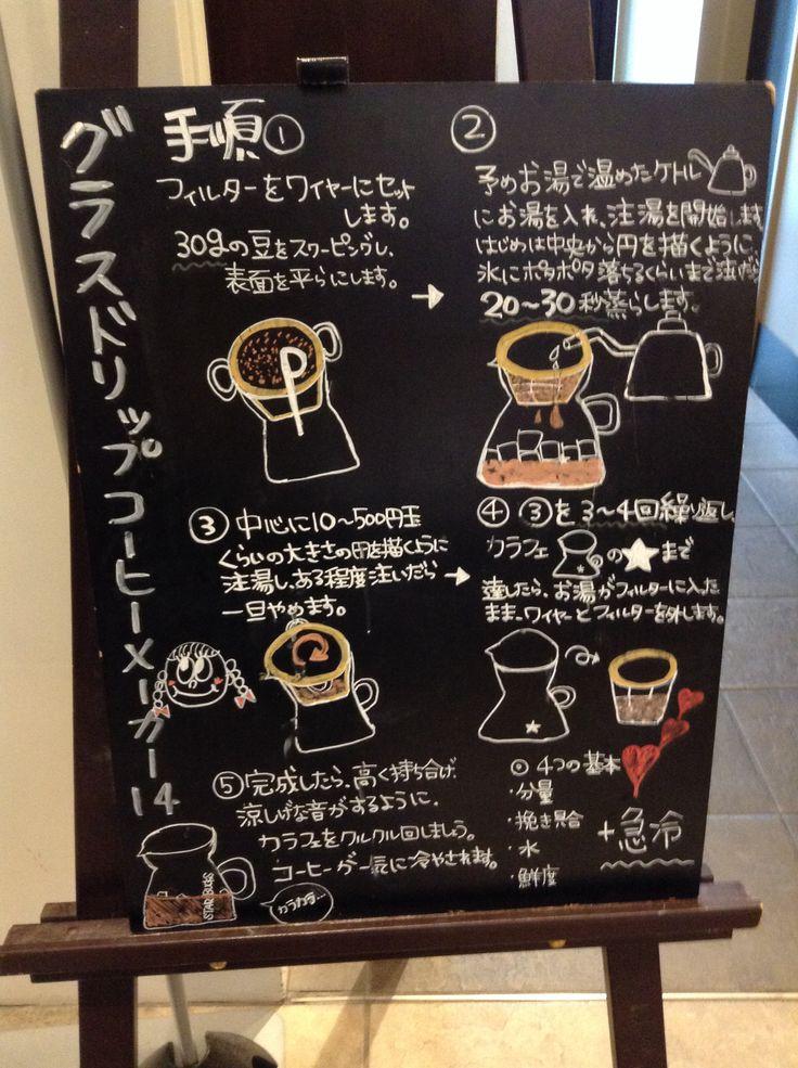 Glass drip coffee maker   Starbucks Chalkboard Japan ...
