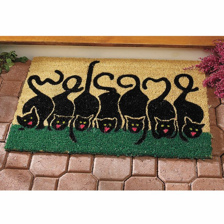 Welcome Cat Coir Mat - Gifts, Clothing, Jewelry, Home