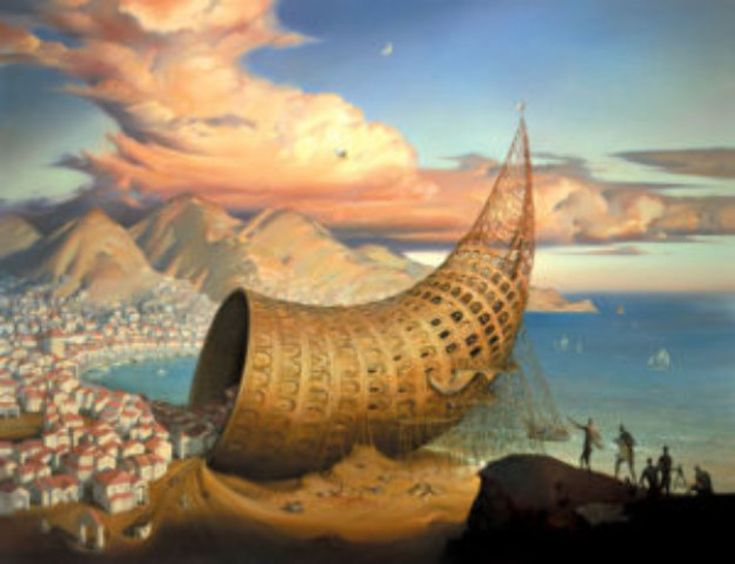 Horn of Babel by Vladimir Kush - Giclee