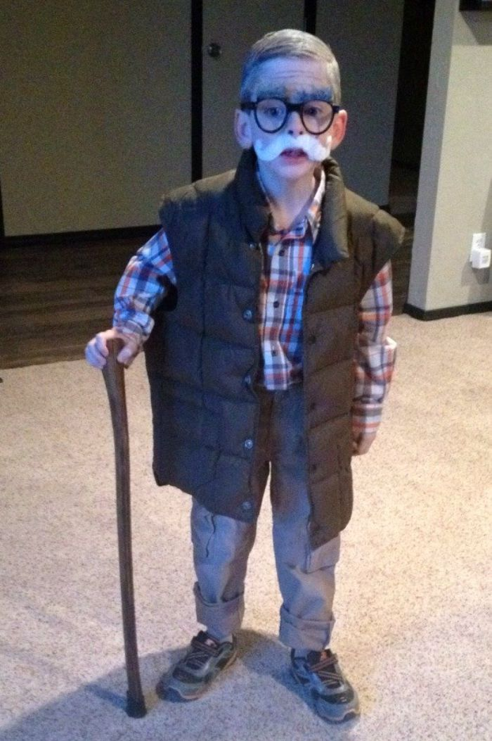 Easy Old Man Costume for Halloween: Child at Heart Blog