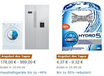 Amazon: Wilkinson-Rasierklingen mit Rabatt für einen Tag https://www.discountfan.de/artikel/technik_und_haushalt/amazon-wilkinson-rasierklingen-mit-rabatt-fuer-einen-tag.php Scharf kalkuliert: Zum Start in die neue Woche sind bei Amazon neun Wilkinson-Artikel zu Schnäppchenpreisen zu haben, darunter fünf Produkte für Männer. Amazon: Wilkinson-Rasierklingen mit Rabatt für einen Tag (Bild: Amazon.de) Die Wilkinson-Schnäppchen von Amazon gelten nur am heutigen Montag, s