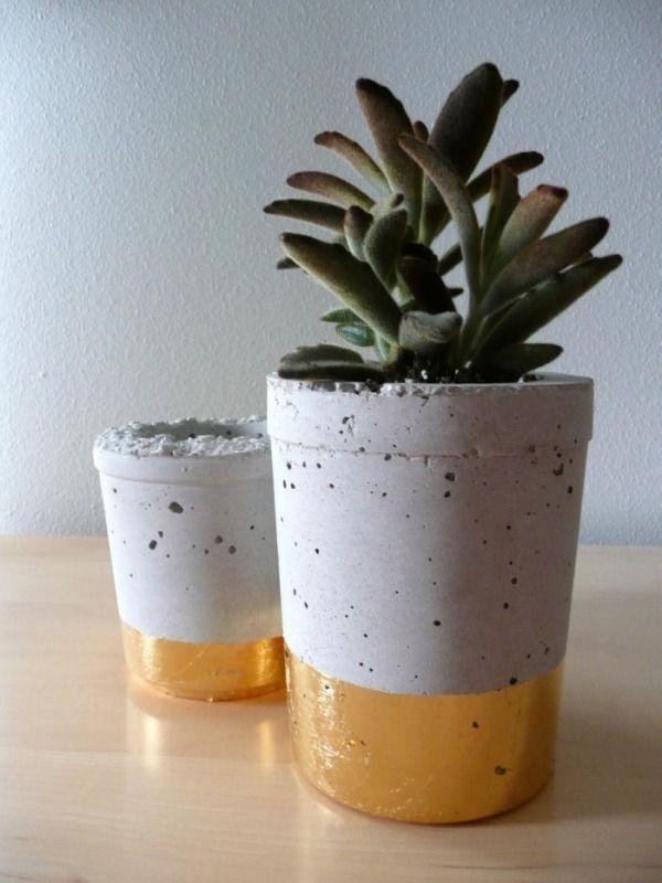 1000+ Images About Beton On Pinterest | Planters, Cement Planters ... Pflanzkubel Aus Beton Gestalterische Highlights