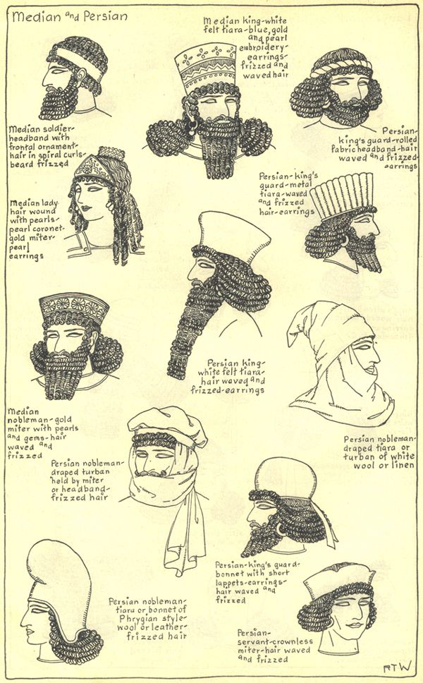 Persian & Median -THE MODE IN HATS AND HEADDRESS  By R. Turner Wilcox