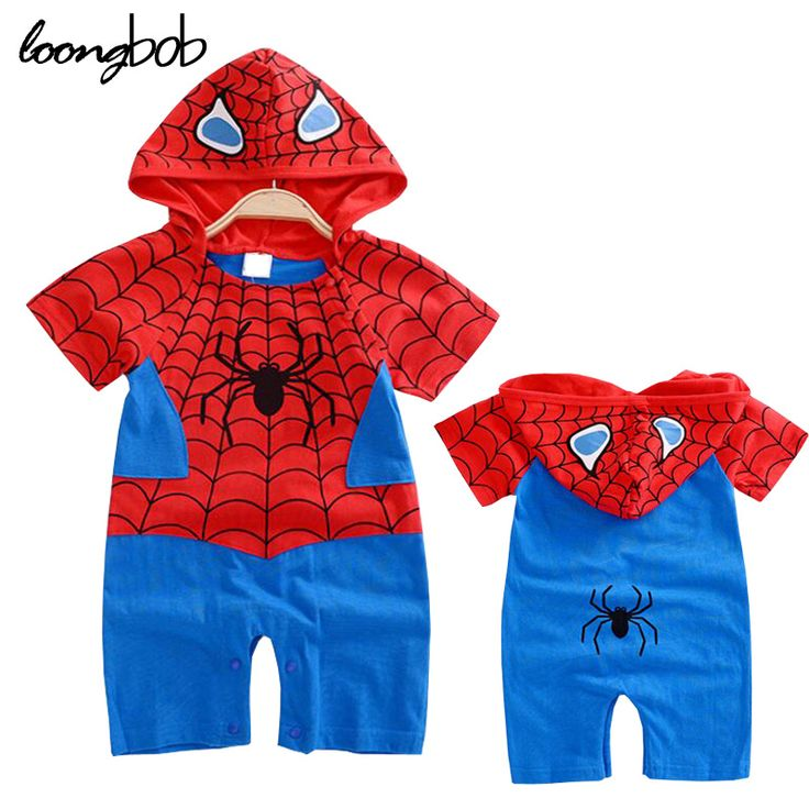 >> Click to Buy << Newborn Baby Boy Romper Infants Spiderman bebe Hooded Jumpsuit Summer Short Sleeve Outerwear Holiday Cosplay Wear #Affiliate