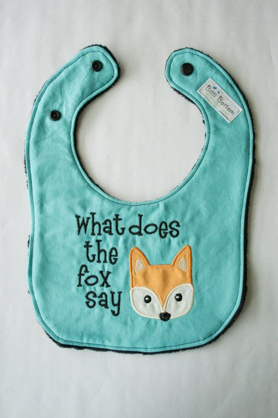What Does the Fox Say Baby Bib, Ylvis The Fox Baby Bib, Baby shower Gift Ideas,
