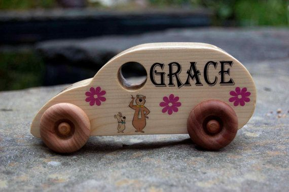 Personalised Handmade Wooden Toy Van - Unique Boys Girls Unusual Kids Childrens Wedding Favour Favor Present Gift for Birthday Christmas