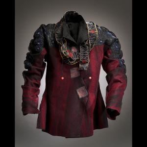 Deborah Cross/// a warrior jacket!!! Love the swagger of the shape and the oxblood red color...this is fabulous