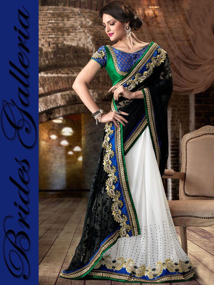 Black & White Designer Saree designer clothes [BGSA 10985] - US $131.84 : Latest Designer Sarees , Anarkali Suits, Salwar Kameez with duppata, Bridal lehenga Choli, Churidar Kameez, Designer Indian Saree Online Store, Wedding Lehenga Choli, Designer Salwar Kameez, Churidar Kameez, I would love to have one!