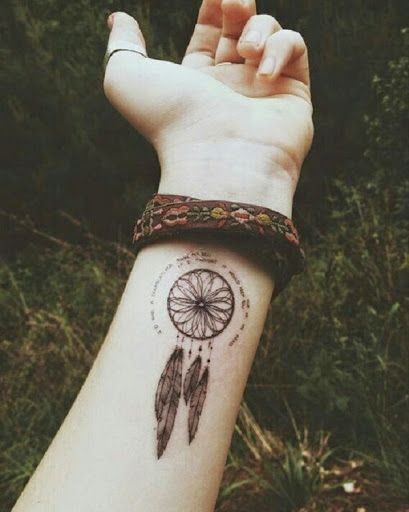 small dreamcatcher tattoo on wrist - Google Search