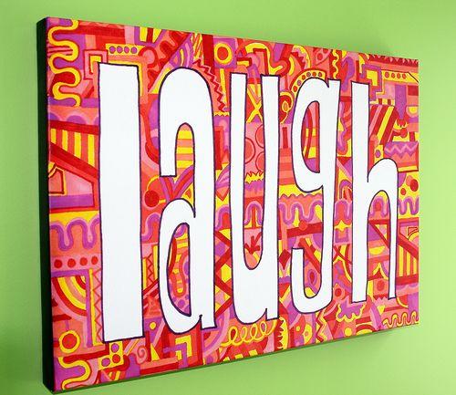 Dit is een leuke tekenles. Kies een positief, motiverend woord. Hang dan alle positiviteit in de gang van school. ;-)