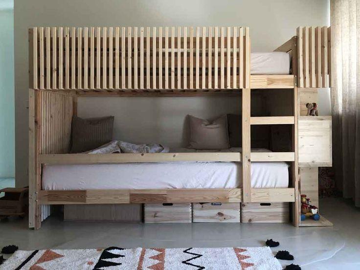 Diy Adolescente Diy With Images Wooden Bunk Beds Diy Bunk