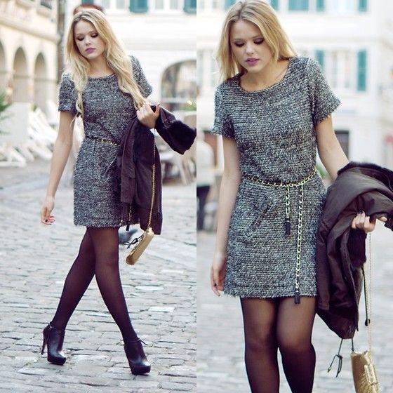VENTILO'S VEST (by Kristina Bazan): Thick Dresses, Style Inspiration, Dresses Fabrics, Casual Dresses, Grey Purple Hues, Style Assembl, Belts