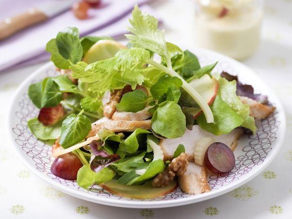 Salade van Mechelse koekoek en druiven - Libelle Lekker!