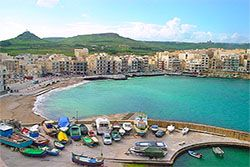 Marsalforn Gozo, Malta , Resort Information Map , Transport & accommodation