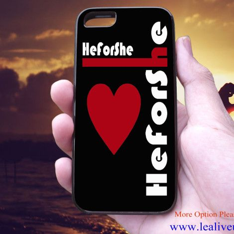 He For She Black red heart Phone Case Back Cover for iPhone, iPod and Samsung Galaxy