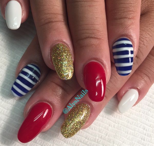 182 best Fourth of July Nail Art - 4th images on Pinterest