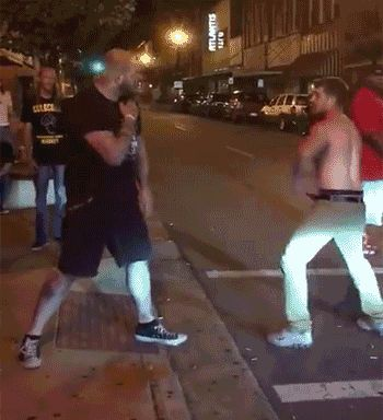 Bad things happen when this drunk decides to fight 320-pound mixed martial artist John Hernholm in the street.