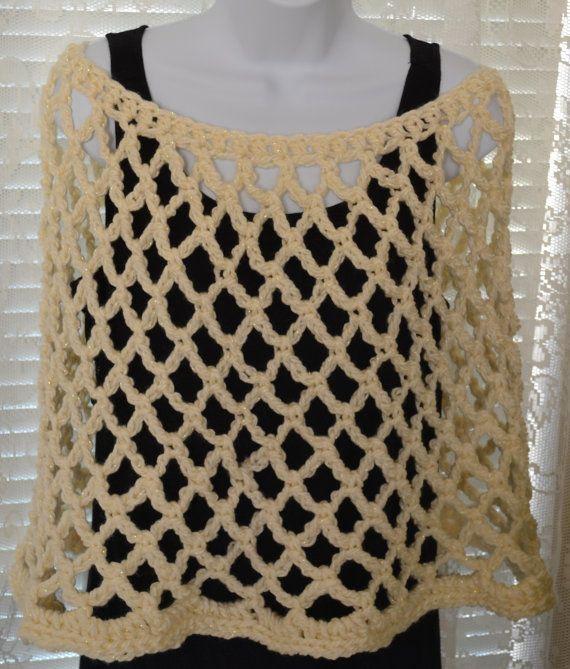 Mejores 10 imágenes de Crochet Ponchos en Pinterest | Poncho de ...