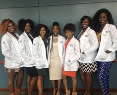 "Because of Them, We Can on Instagram: ""Absolutely beautiful: Seven future doctors of physical therapy at their white coat ceremony at Hampton University.  #becauseofthemwecan #blackgirlmagic"""