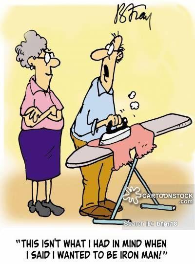 Kiedy mówi, że chce być IRONmanem - wykorzystaj to:) #prasowanie #prasowanie koszul #ironing #prasowalnia http://www.prasowalnia.pl