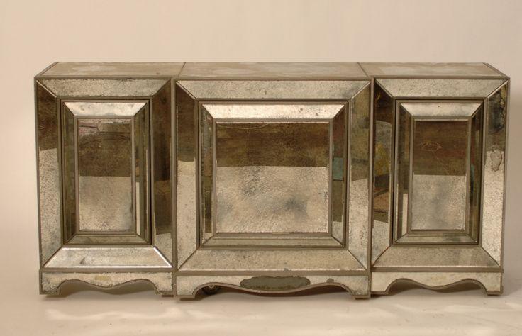 Harrington Galleries - Hollywood Regency Mirrored Sideboard, $3,450.00 (http://webstore.harringtongalleries.com/hollywood-regency-mirrored-sideboard/)