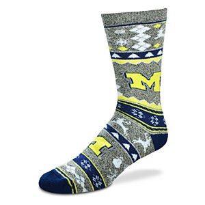 Michigan Wolverines Christmas Socks