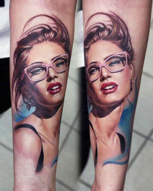 Woman tattoo by Valentina Ryabova