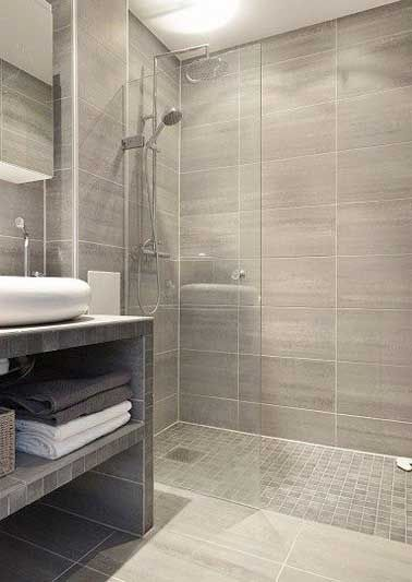 74 best Salle de bain images on Pinterest Bathroom, Half bathrooms - image carrelage salle de bain