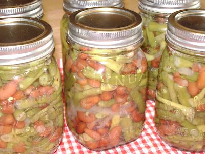 Pickled Three Bean Salad for Canning -- Been looking for this recipe!!