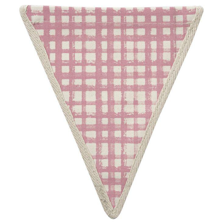 Meri Meri Alphabet Bunting - Red Check Pattern -  Bunting - Meri Meri UK - Putti Fine Furnishings Toronto Canada - 1