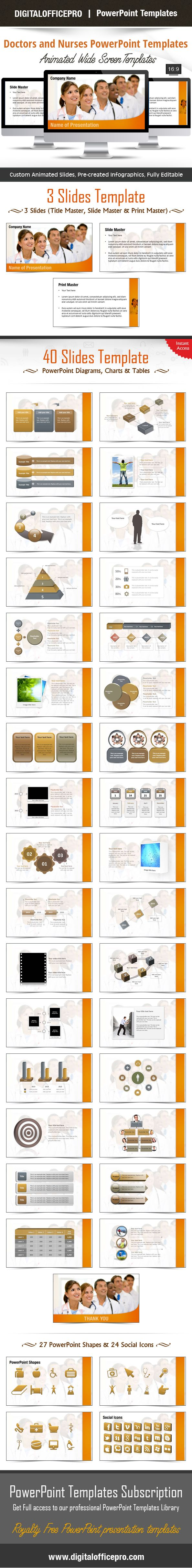 34 best presentations images on pinterest nursing presentation doctors and nurses powerpoint template backgrounds toneelgroepblik Image collections
