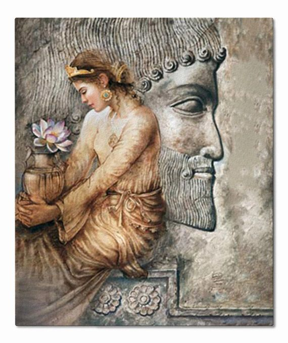 423 B.C.E. - Pari Satis (Parysatis) was the half-sister of Xerxes II, Queen of the Persian Achaemenid Empire and the wife of King Darius the Second. She was also a General (Arteshbod) and took full command of the Imperial Army when her husband died in battle. Whilst King Artaxerxes II wanted to eliminate his brother for betraying him, Parysatis interfered succesfully and restored order and peace with her own army.