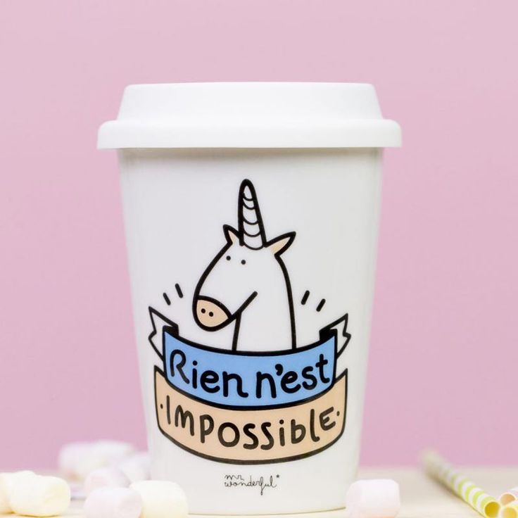 Tasse à emporter Licorne | Mr. Wonderful                                                                                                                                                                                 Plus