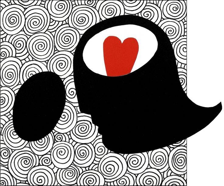 """andrea mattiello """"il vaso di Pandora"""" pennarello e collage su cartoncino cm 18x15; 2014 #andreamattiello #arte #art #artecontemporanea #conyemporaryart #artist #artista #artistaemergente #pennarello #collage #cardboard #cartoncino #tecnicamista  #cuore #heart #passepartoutartgallery #passepartoutunconventionalgallery #milano"""