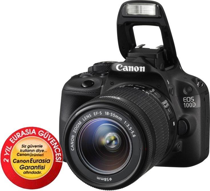 Canon EOS 100D 18-55mm DC Dijital SLR Fotoğraf Makinesi ::