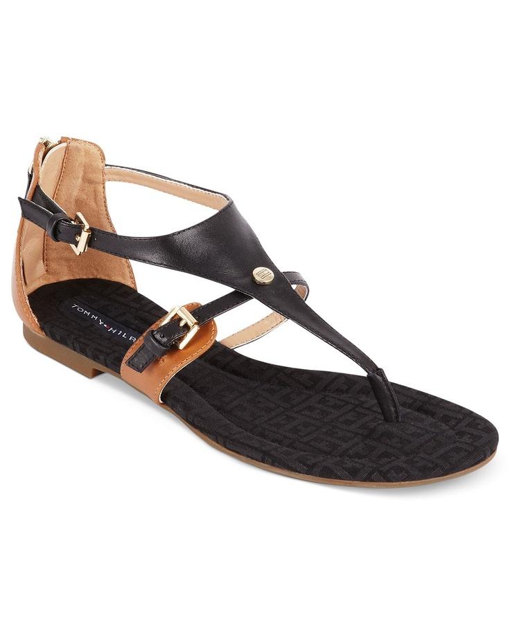 Tommy Hilfiger Shoes, Baran Flat Thong Sandals - Tommy Hilfiger - Shoes - Macys