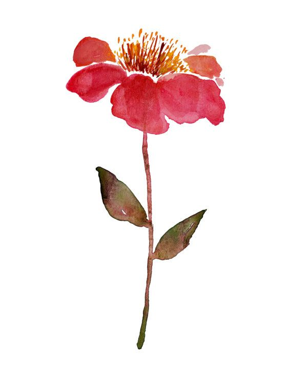 no.48  Watercolor island chic minimalist by KianaMosleyStudio