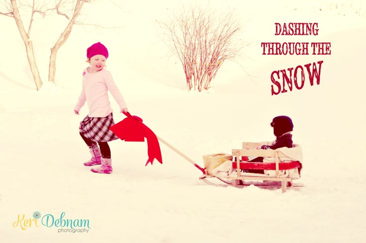 Dashing through the Snow.  Kids Christmas photo.  www.facebook.com/keridebnamphotography