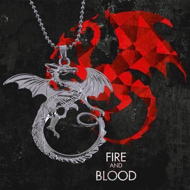 Game Of Thrones Jóias Canção De Gelo E Fogo Targaryen Dragão Emblema Colar Pingente