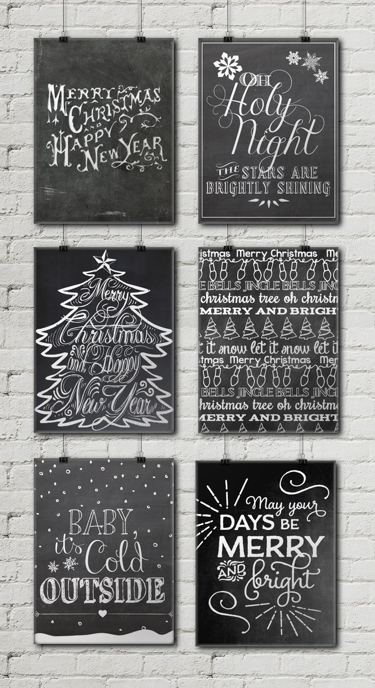 12 Free Christmas Chalkboard Printables • Little Gold PixelLittle Gold Pixel