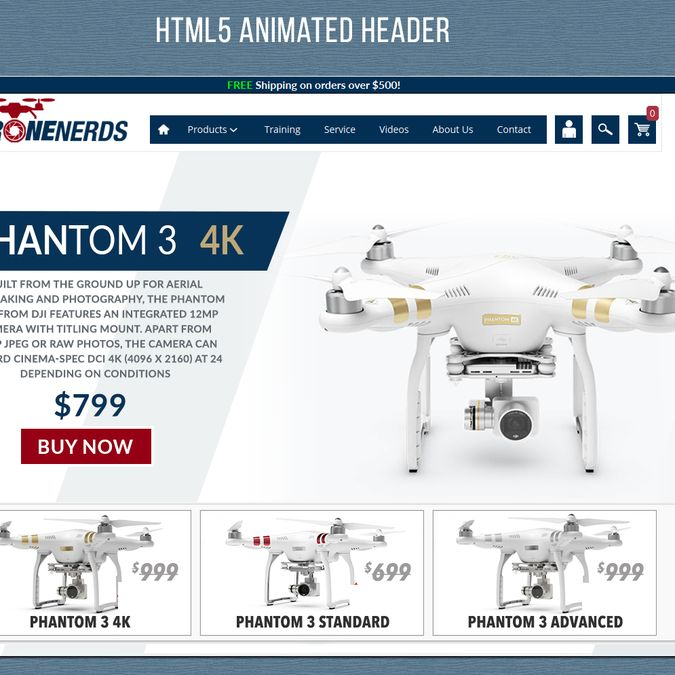 Design Clean Eye Catching Banners for Drone E-Tailer by FlashPrime